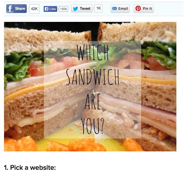 Buzzfeed Quiz Sandwich