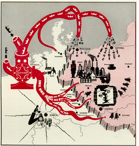 Antwerp, Life Magazine map