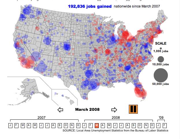 Unemployment Viz - Unemployment in the us map