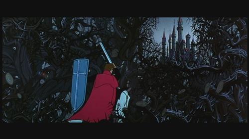 Prince Phillip journeys towards Sleeping Beauty's home