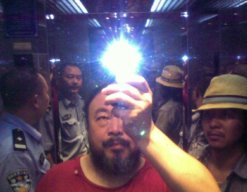 Ai Weiwei after initial arrest