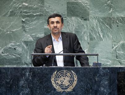 Ahmadinejad Sans Tie at the UN