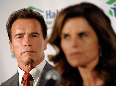 Arnold Schwarzeneggar and Maria Schriver