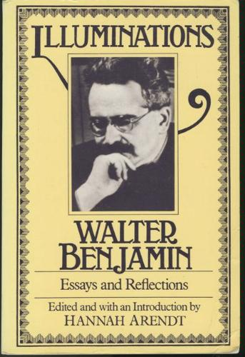 The cover of Benjamin's collection of essays, Illuminations
