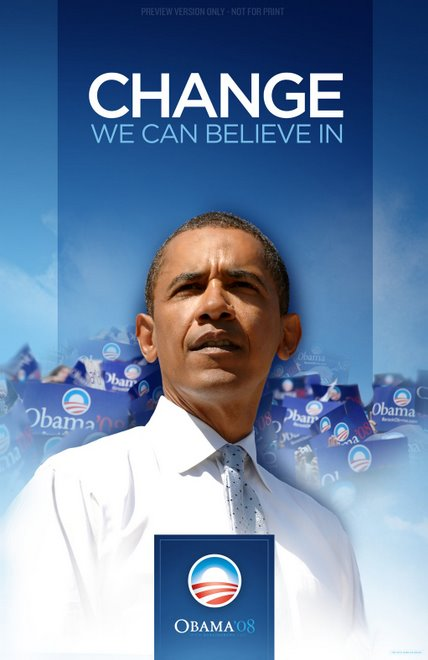 official Obama poster: change