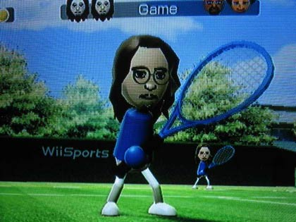 David Foster Wallace mii figure playing tennis