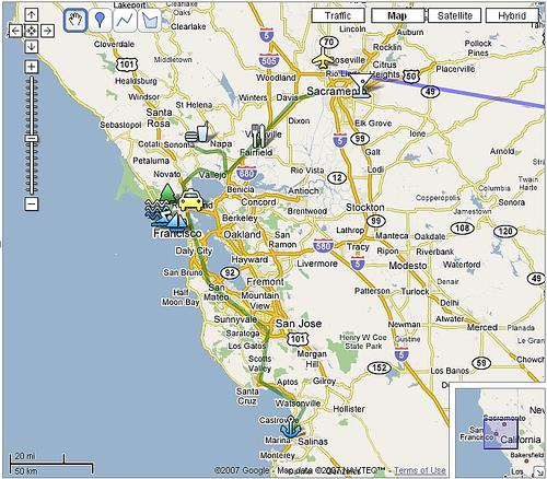 Google Maps Assignment By Sean McCarthy Viz - Google maps san francisco