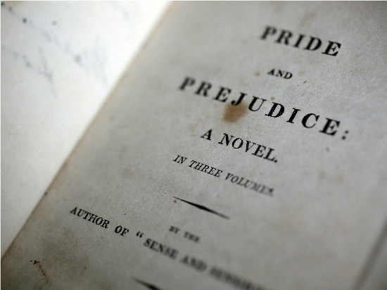 Title page for first edition of Pride and Prejudice