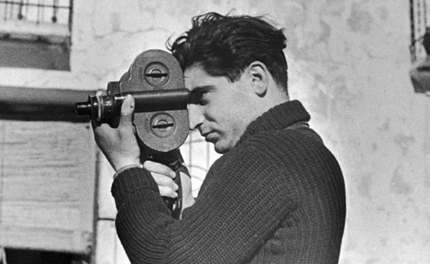 A photographic portrait of Robert Capa