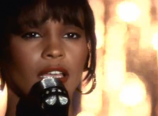 "Whitney Houston in her video for ""I Will Always Love You"""