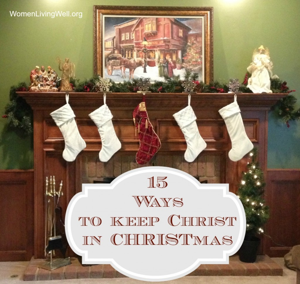 Christ in Christmas Fireplace