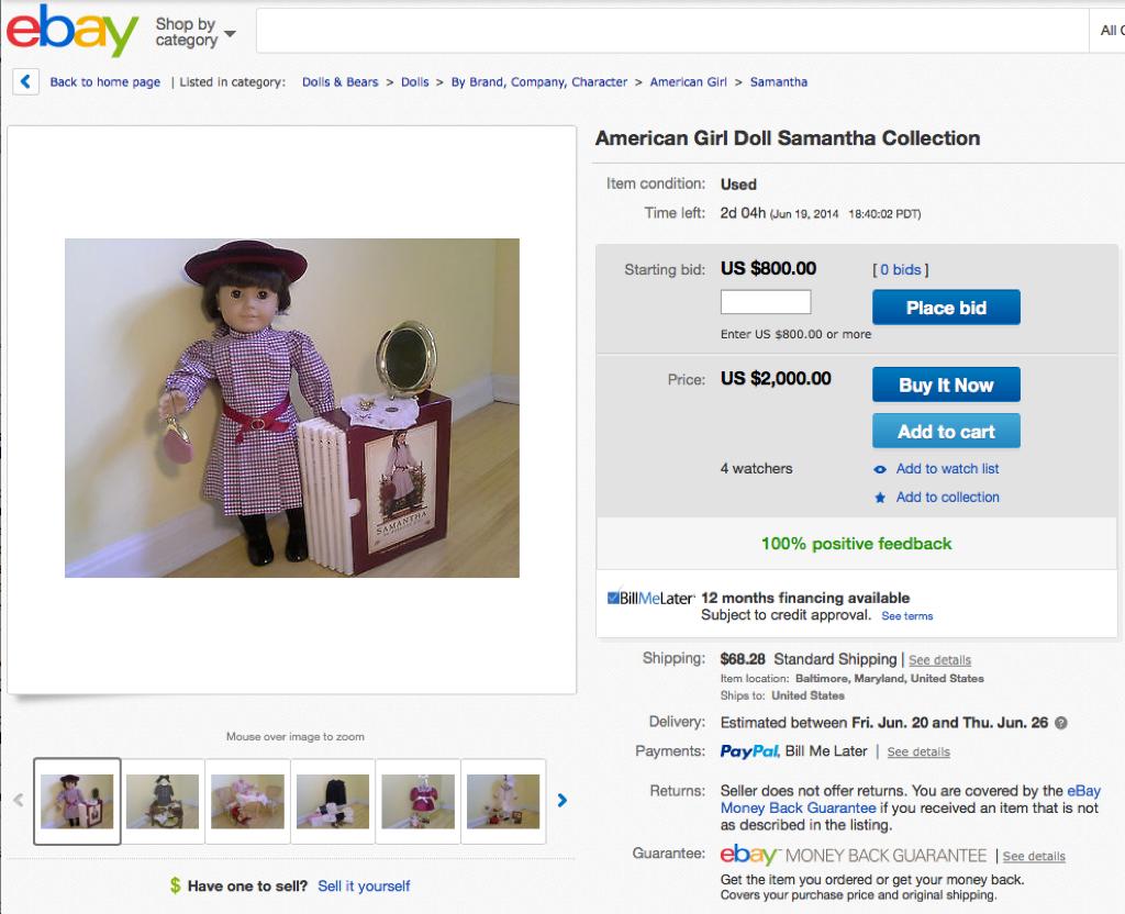 eBay Samantha