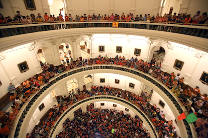 image of capitol rotunda filled with people