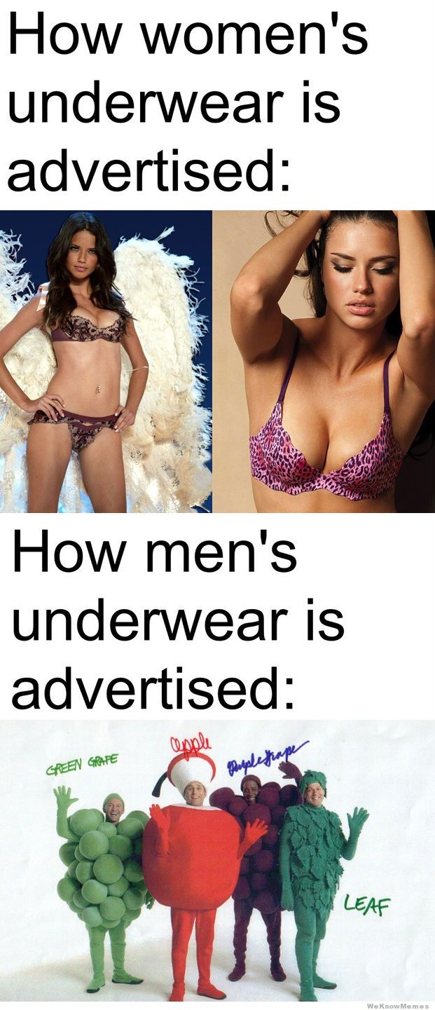 Womens Mens Underwear Ads